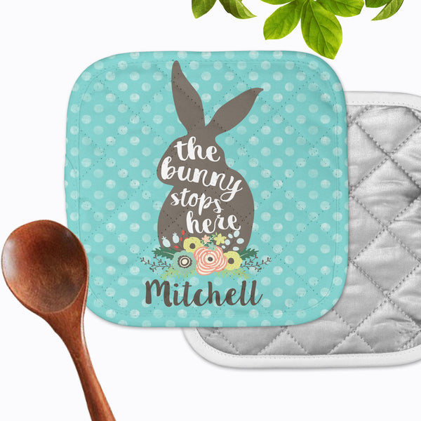 Personalized - Bunny Stops Hot Pad - Second East