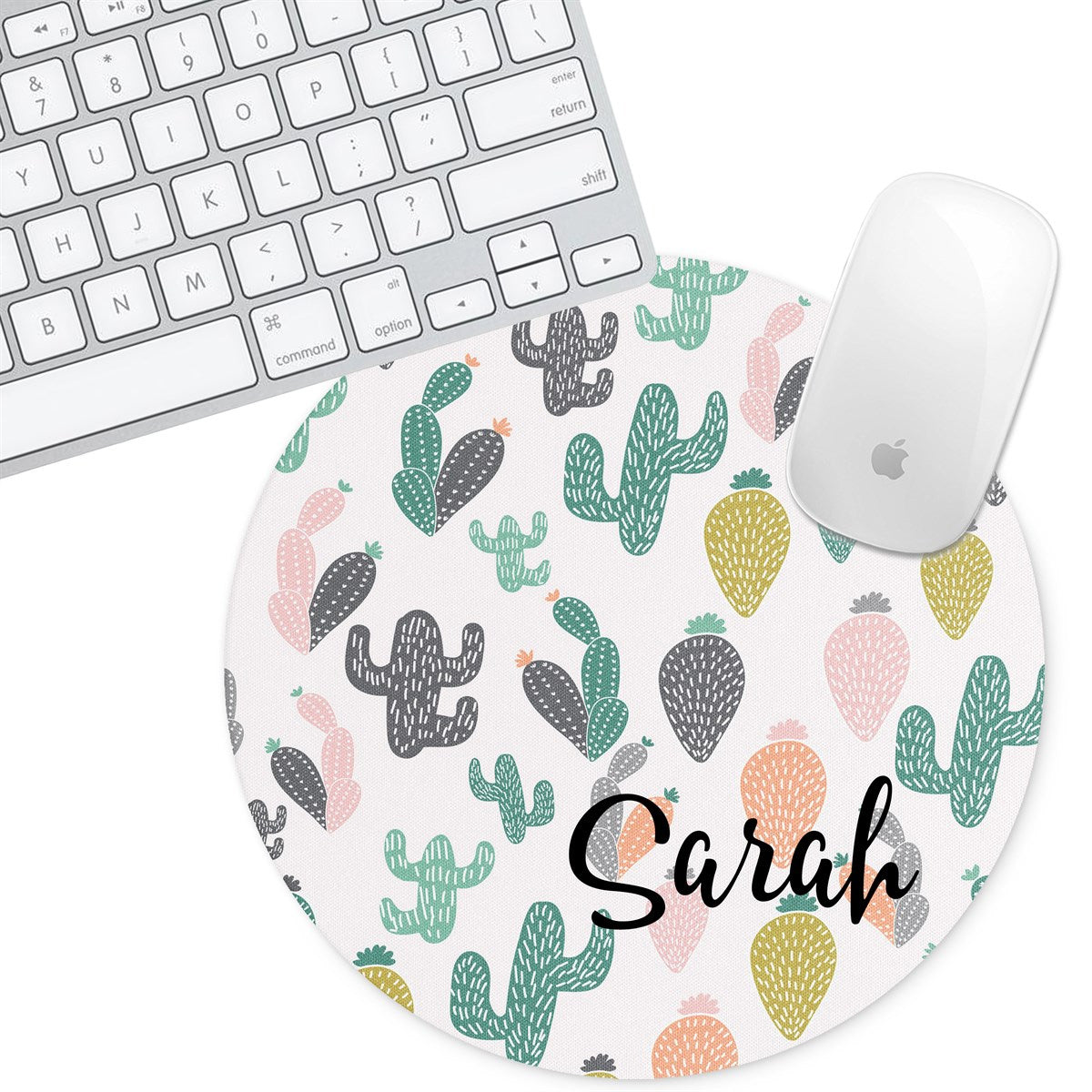 Personalized Round Mouse Pad - Cactus Sarah - Second East