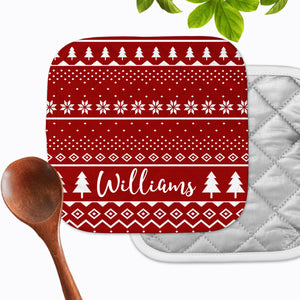 Personalized - Christmas Sweater Hot Pad - Second East