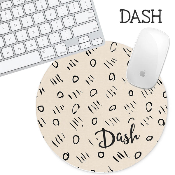 Personalized Round Mouse Pad - Dash - Second East