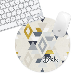 Personalized Round Mouse Pad - Drake - Second East