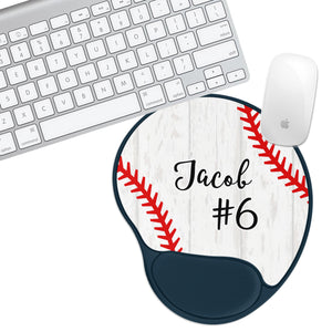 Custom Personalized Baseball Team Sport Padded Mouse Pad - Second East