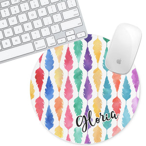 Personalized Round Mouse Pad - Gloria - Second East