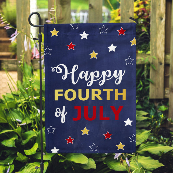 GOLD FOIL Happy Fourth Garden Flag - Second East