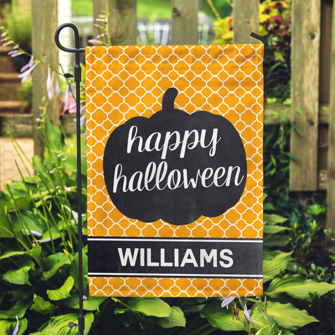 "Personalized Garden Flag - Happy Halloween Custom Yard Flag - 12"" x 18"" - Second East"