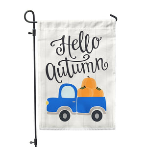 "Hello Autumn Garden Flags 12"" x 18"" - Second East"