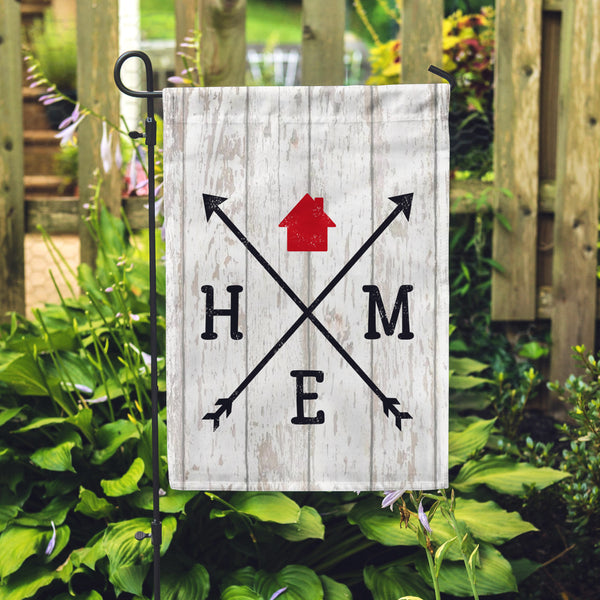 "Home Arrow Garden Flag 12"" x 18"" - Second East"