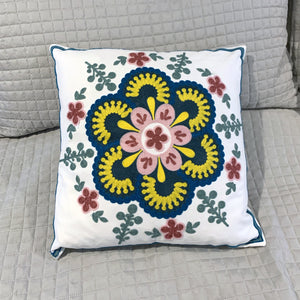Embroidered Pillow Cover - Medallion