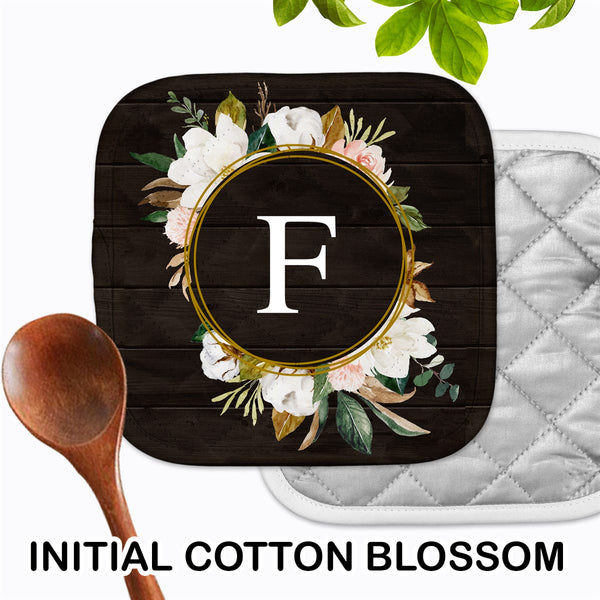 Personalized - Initial Cotton Blossom Hot Pad - Second East