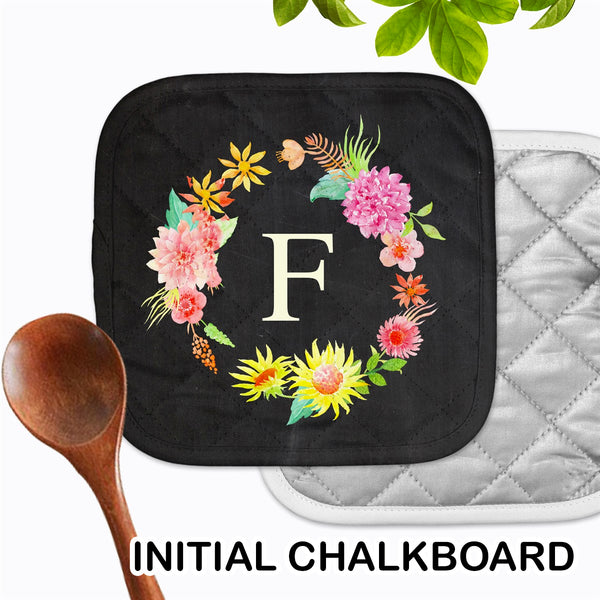 Personalized - Initial Chalkboard Hot Pad - Second East