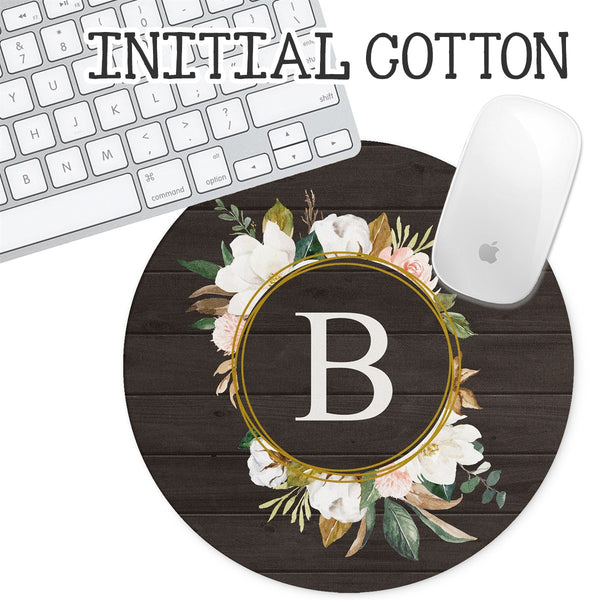 Personalized Round Mouse Pad - Initial Cotton - Second East