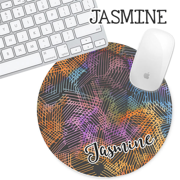 Personalized Round Mouse Pad - Jasmine - Second East