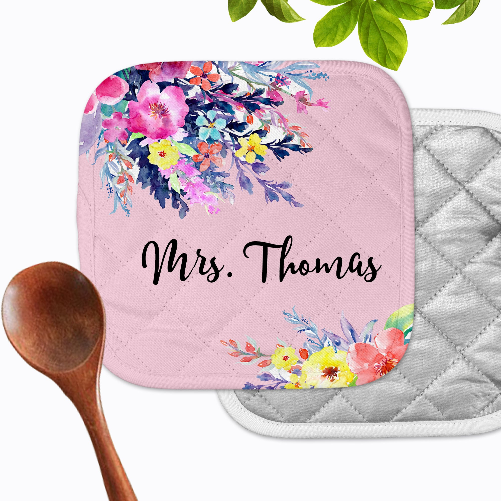 Personalized - Jessica Ann Floral Hot Pad - Second East