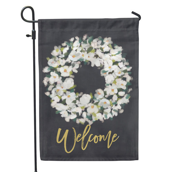 "Magnolia Blossom Garden Flag 12"" x 18"" - Double Sided - Second East"