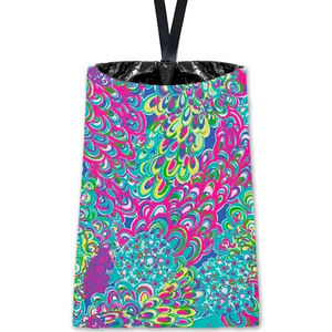 Penelope Peacock Car Trash Bin | Car organizer