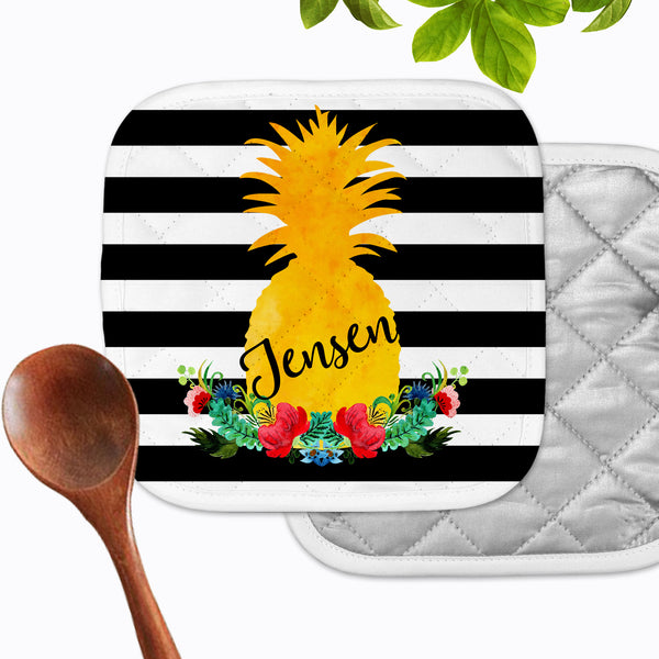 Personalized - Pineapple Stripe Hot Pad - Second East