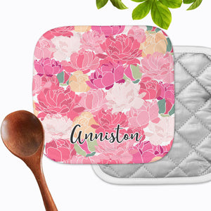 Personalized - Poppy Floral Hot Pad - Second East
