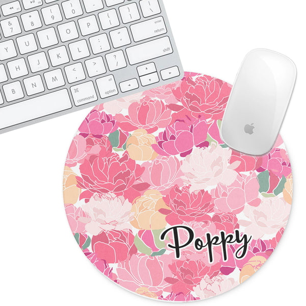 Personalized Round Mouse Pad - Poppy - Second East