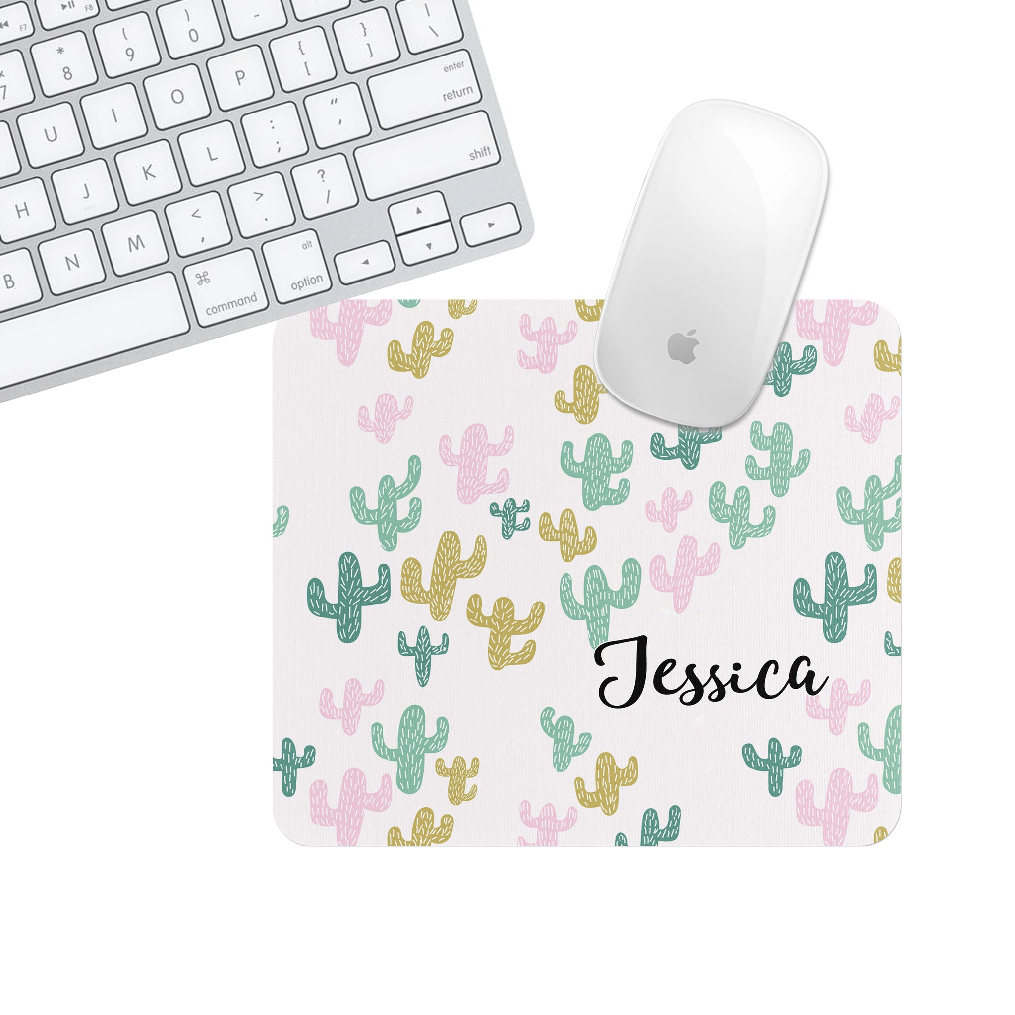 Custom or Plain Cactus Jenna Square Mouse Pad - Second East