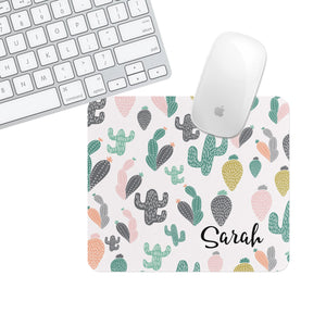 Custom or Plain Cactus Sarah Square Mouse Pad - Second East