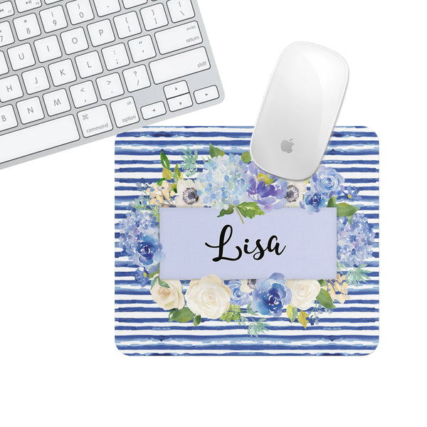 Custom or Plain Lisa Stripe Square Mouse Pad - Second East