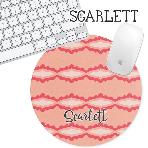 Personalized Round Mouse Pad - Scarlett - Second East