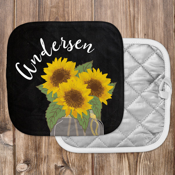 Personalized - Sunflower Hot Pad - Second East