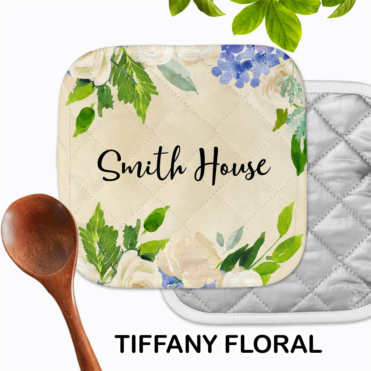 Personalized - Tiffany Floral Hot Pad - Second East