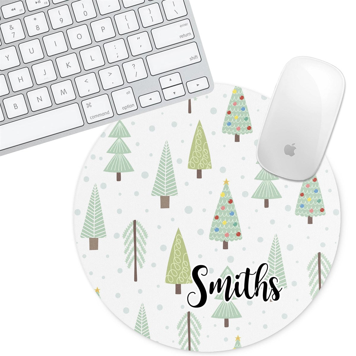 Personalized Round Mouse Pad - Timber - Second East