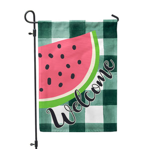 "Watermelon Welcome Garden Flag 12"" x 18"" - Double Sided - Second East"