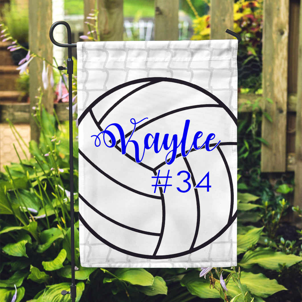 Personalized Garden Flag - Volleyball Team Yard Flag - 12