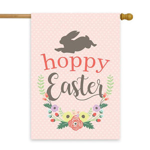 "Hoppy Easter House Flag 28"" x 40"" - Second East"