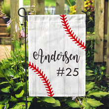 "Personalized Garden Flag - Baseball No Place Like Home - 12"" x 18"" - Second East"