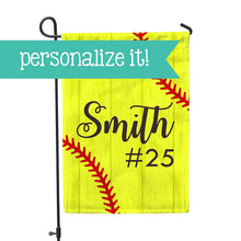 "Personalized Garden Flag - Softball No Place Like Home Yard Flag - 12"" x 18"" - Second East"