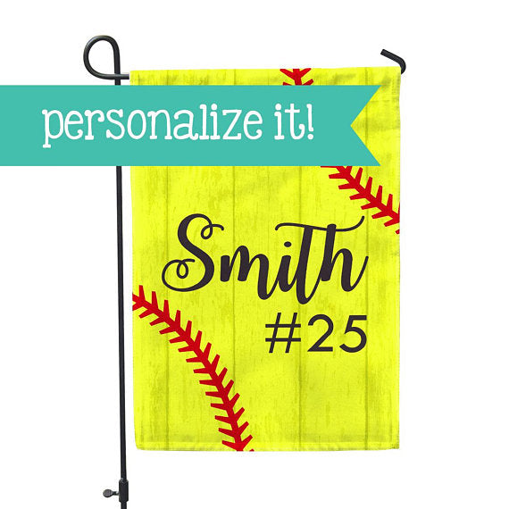 Personalized Garden Flag - Softball No Place Like Home Yard Flag - 12