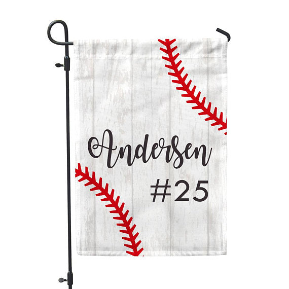 Personalized Garden Flag Baseball No Place Like Home 12 X 18 Second East Llc