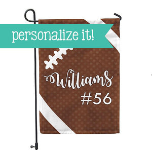 "Personalized Garden Flag - Football Season Yard Flag - 12"" x 18"" - Second East"
