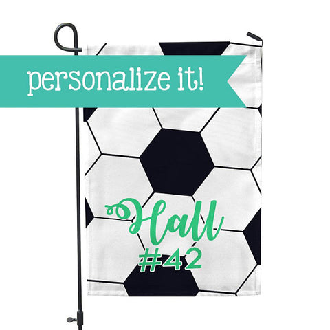 "Personalized Garden Flag - Soccer Goal Team Yard Flag - 12"" x 18"" - Second East"