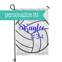 "Personalized Garden Flag - Volleyball Team Yard Flag - 12"" x 18"" - Second East"
