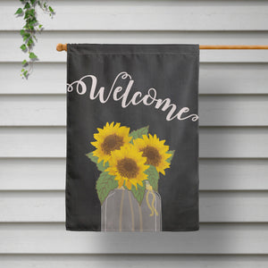 "Welcome Sunflower Floral Fall House Flag 28"" x 40"" - Second East"