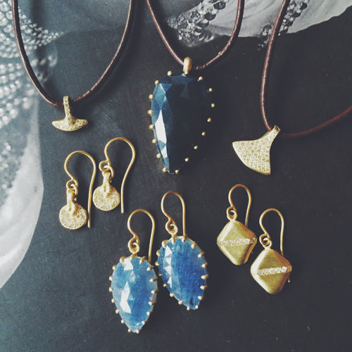 sapphires and gold