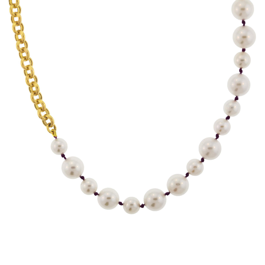 Pearl + Chain Necklace