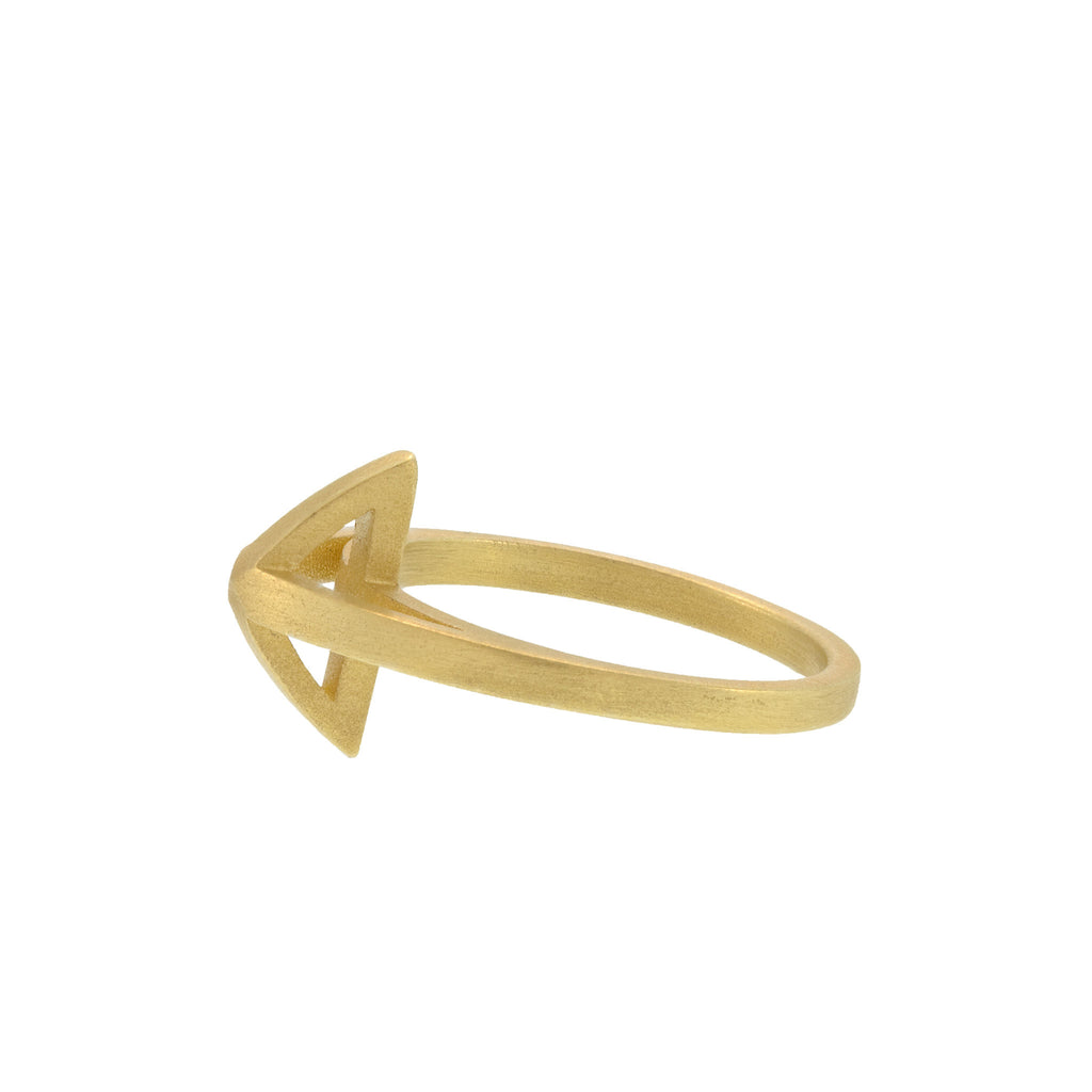 The Caged Pyramid Ring