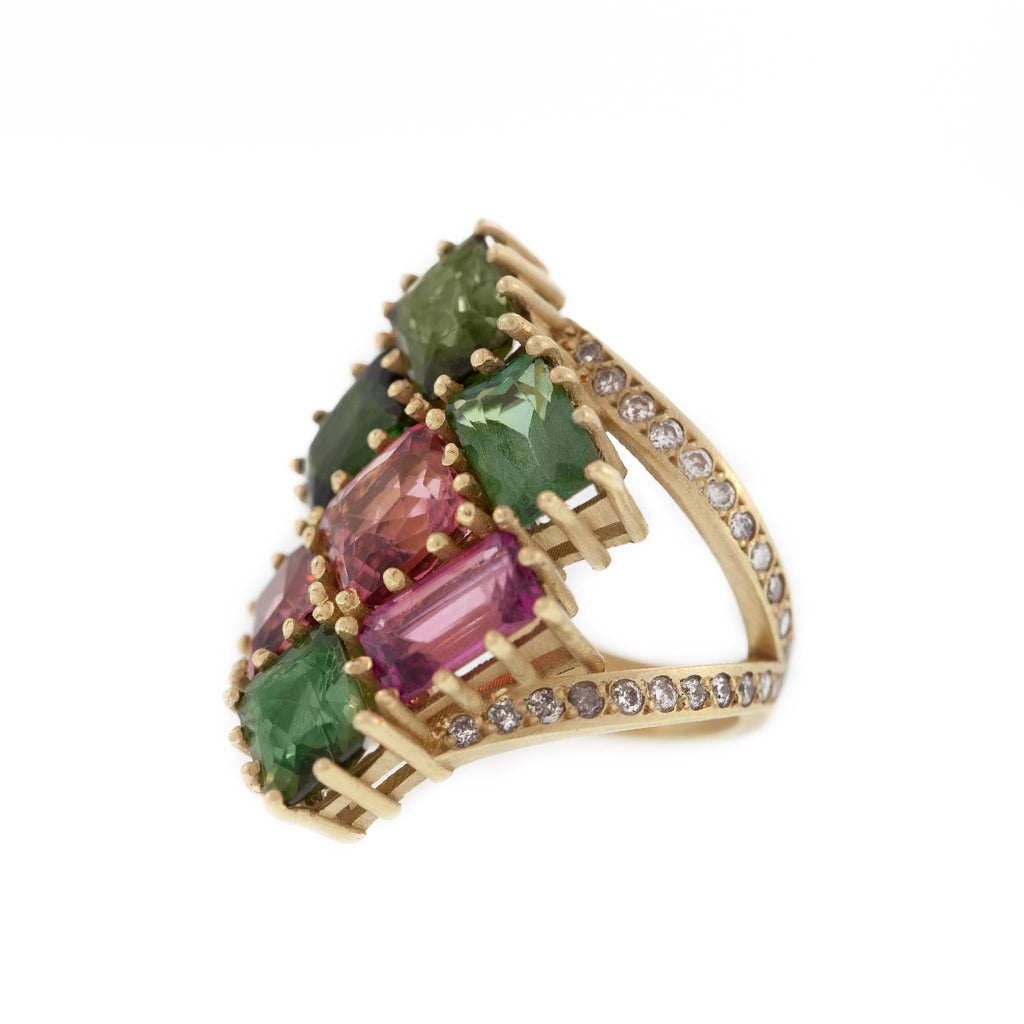 The Tourmaline Stained Glass Ring
