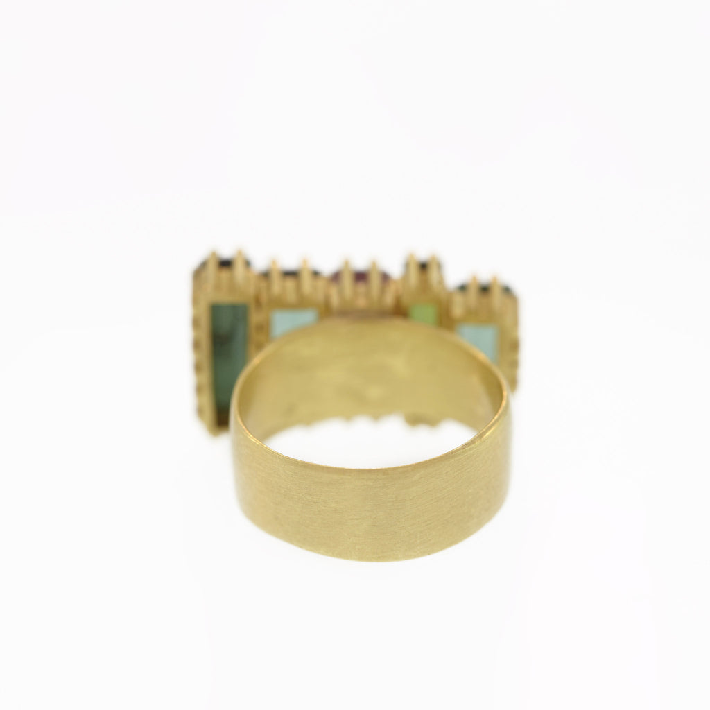 Tourmaline Stacked Baguette Ring