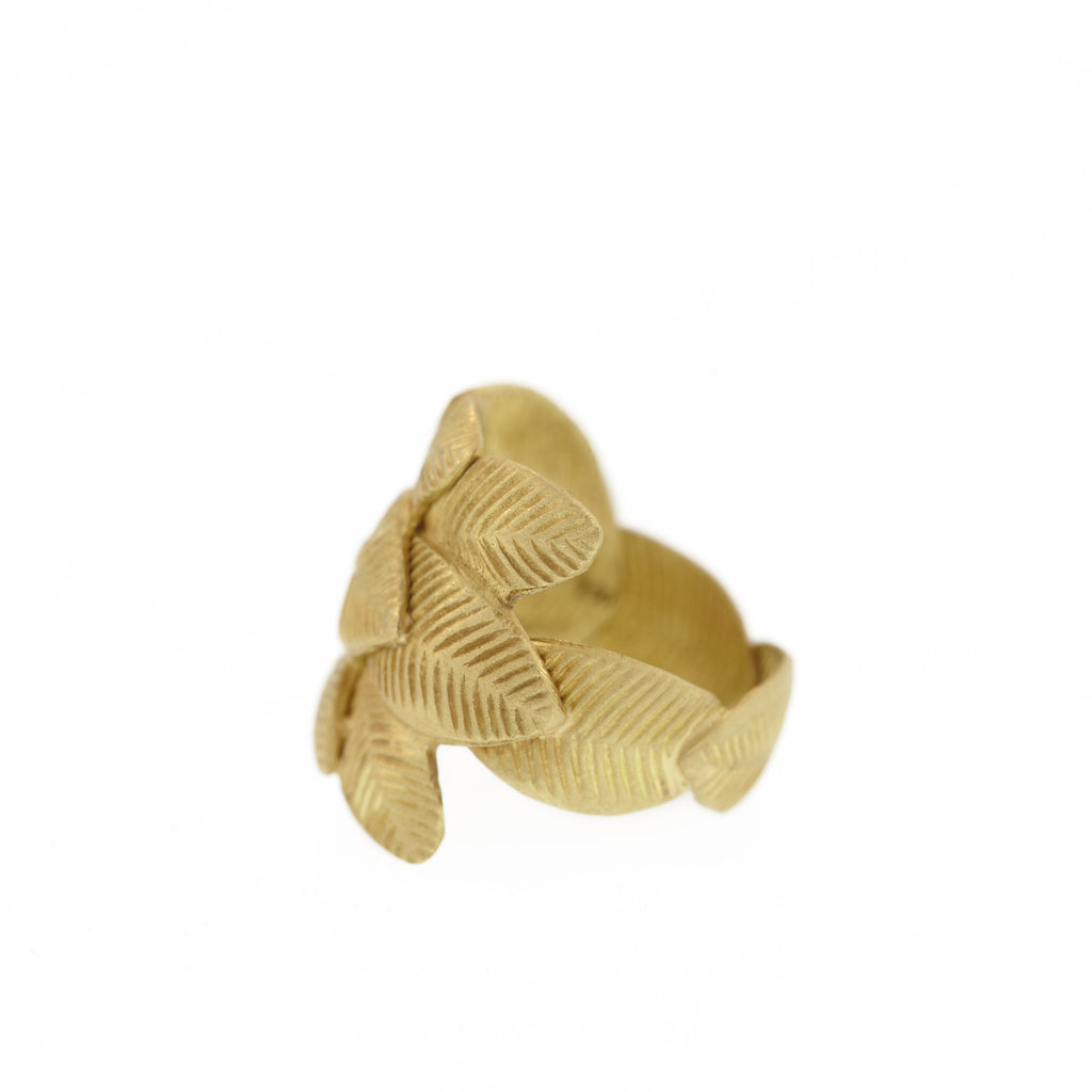 The Wrapped Lotus Leaf Ring