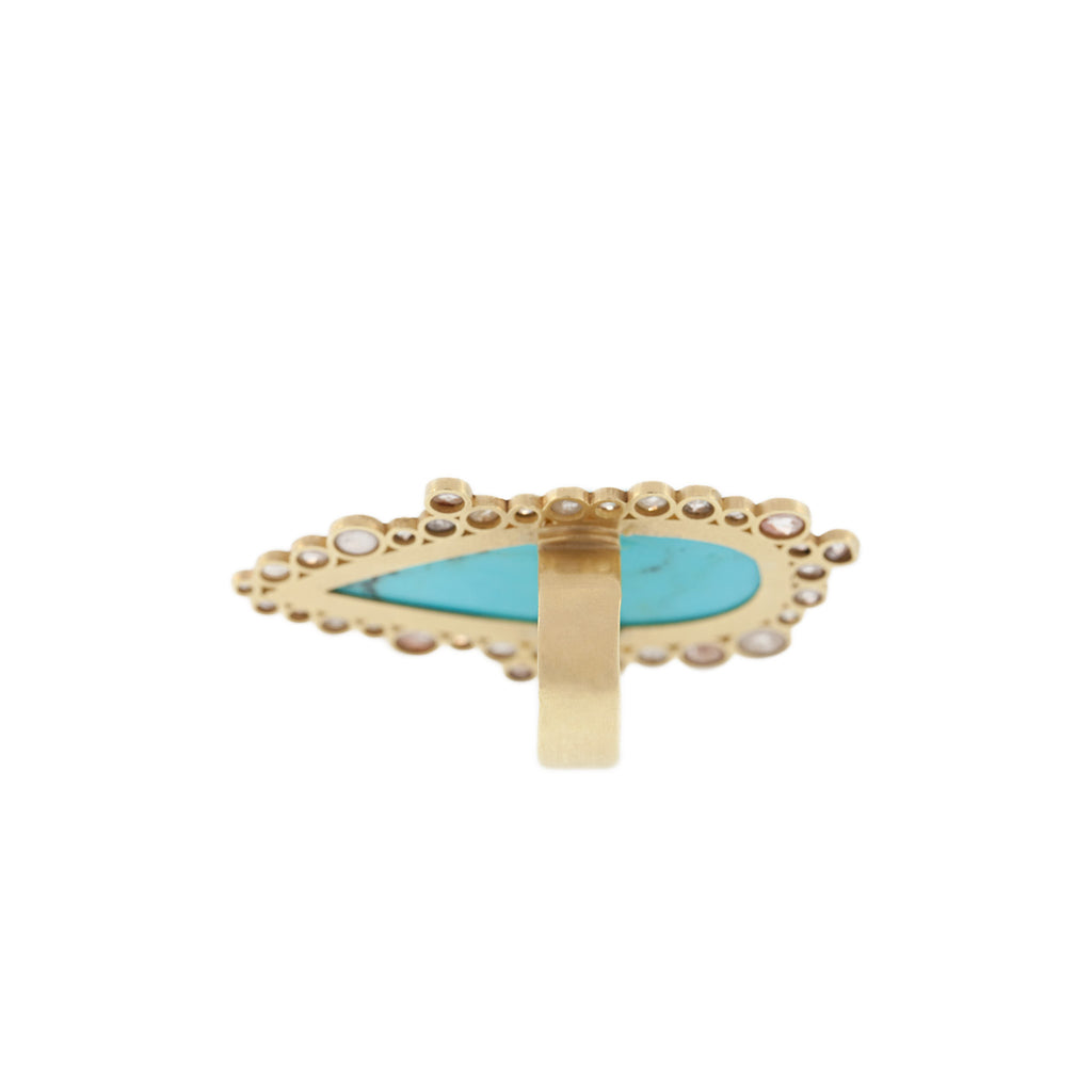 The Turquoise Peacock Ring