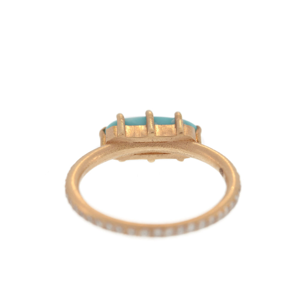 Turquoise + Diamond Stacking Ring
