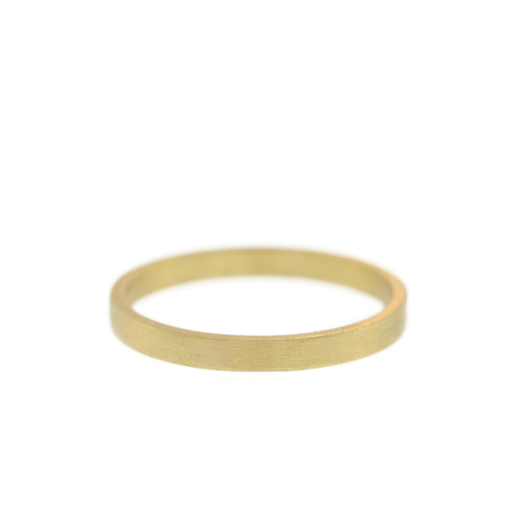 The Squared Edge Band in Yellow Gold, For Men, 2mm