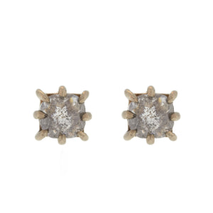 The Square Prong Diamond Stud